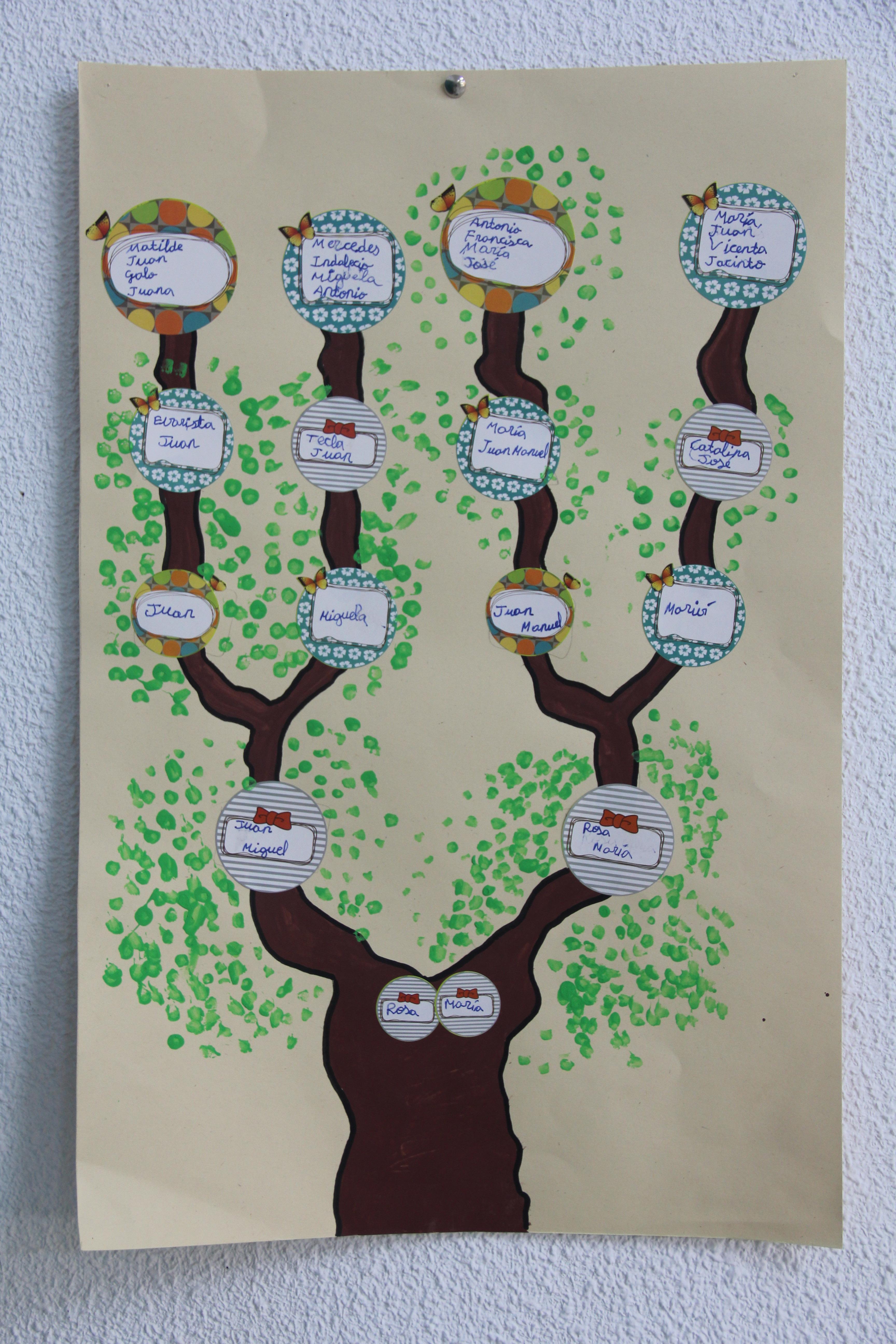 Árbol genealógico ceip cristo risco