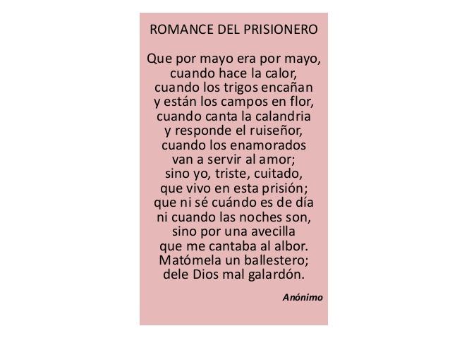 Resultado de imagen de romance prisionero